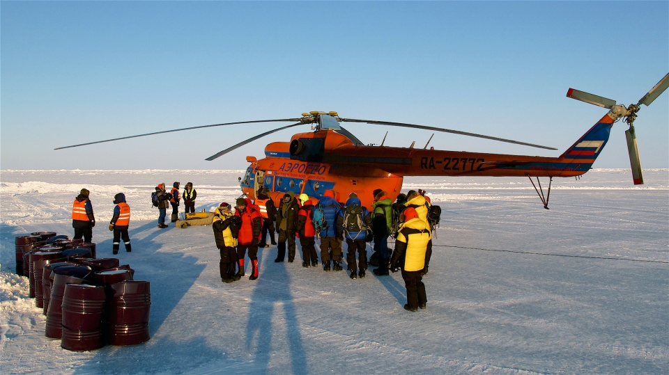 Icetrek North Pole Deluxe Helicopter loading
